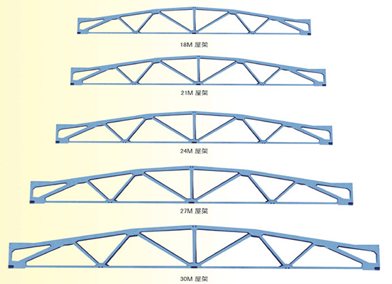 折线型屋架